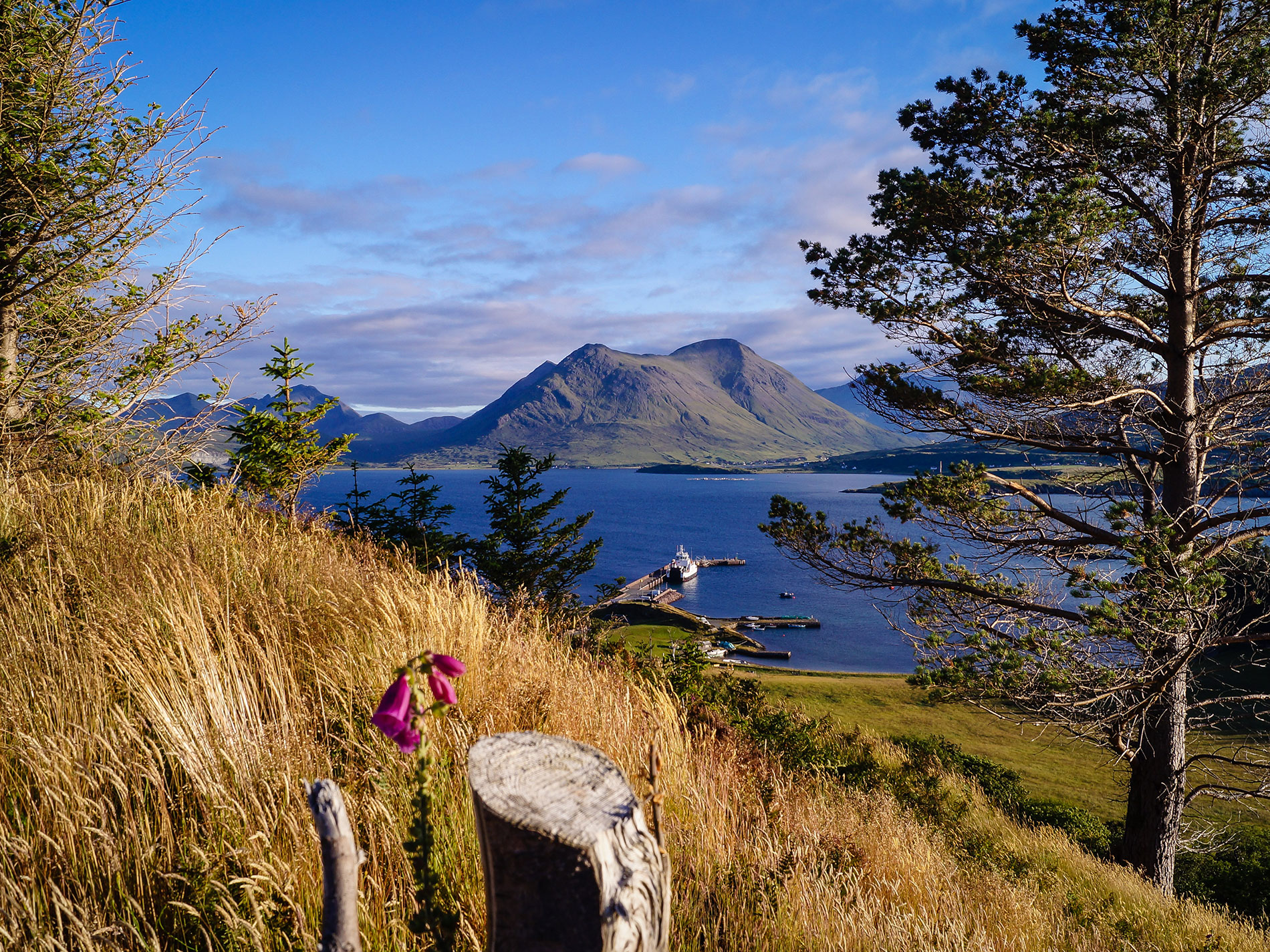 Views of the Isle of Skye from Temptation Hill, Raasay